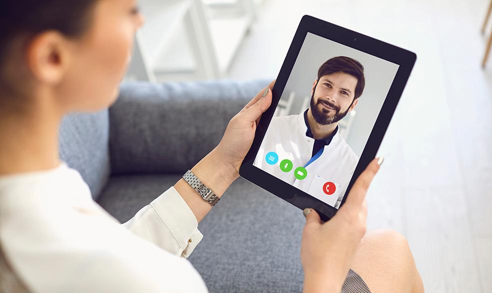virtual call with podiatrist