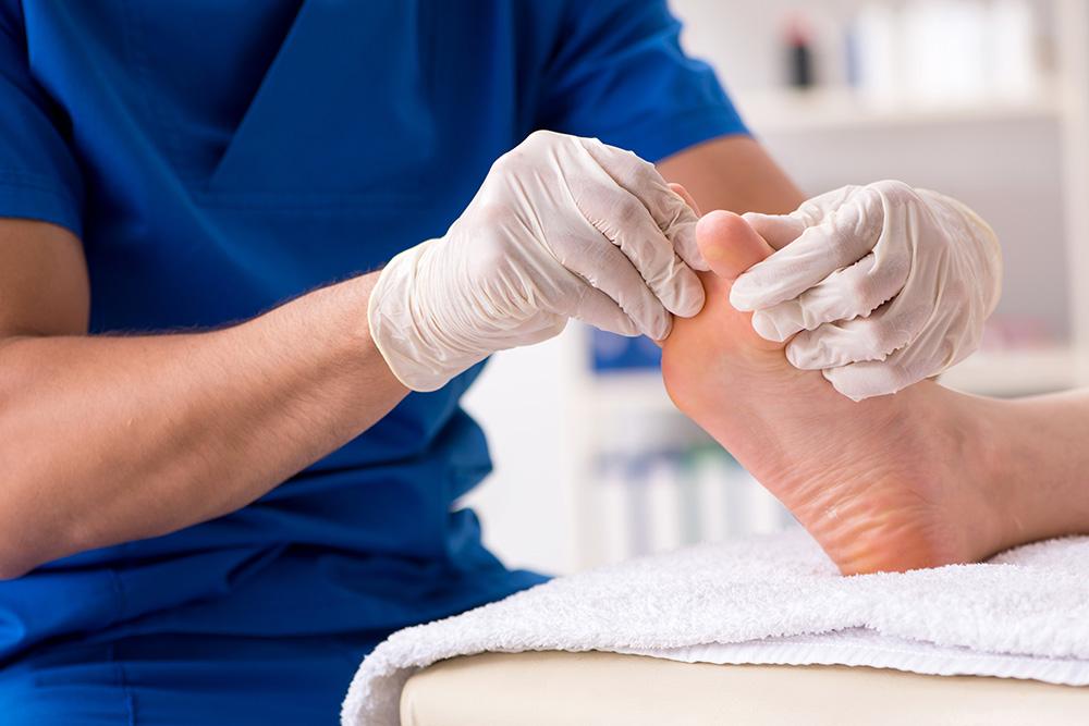 Podiatrist Foot Examination